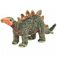 vidaXL Stov. pliuš. žaislas dinoz. stegozauras, žal. ir oran. sp., XXL