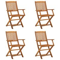 vidaXL Sulankstomos lauko kėdės, 4 vnt., akacijos medienos masyvas