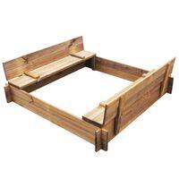 vidaXL Smėlio dėžė, impregnuota mediena, kvadratinė