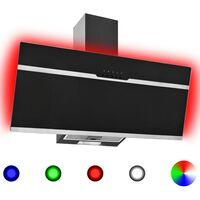 vidaXL Gartraukis, įvairių spalvų, 90cm, plienas ir stiklas, su LED