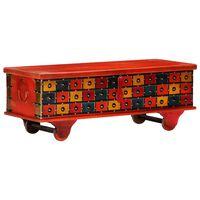 vidaXL Daiktadėžė, raudona, 110x40x40cm, akacijos medienos masyvas