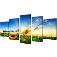 "Fotopaveikslas ""Saulėgrąžos"" ant Drobės 100 x 50 cm"