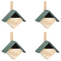 vidaXL Inkilai paukščiams, 4vnt., 24x16x30cm, eglės mediena