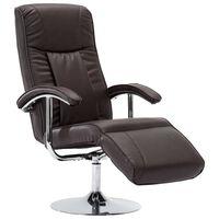 vidaXL TV krėslas, rudas, dirbtinė oda
