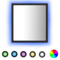 vidaXL Vonios kambario veidrodis, pilkos spalvos, 40x8,5x37cm, MDP