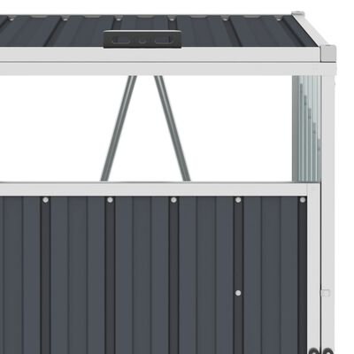 vidaXL Konteinerių stoginė, antracito, 213x81x121cm, plienas, dvivietė