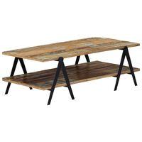 vidaXL Kavos staliukas, 115x60x40cm, perdirbtos medienos masyvas