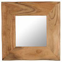 vidaXL Kosmetinis veidrodis, 50x50cm, akacijos medienos masyvas