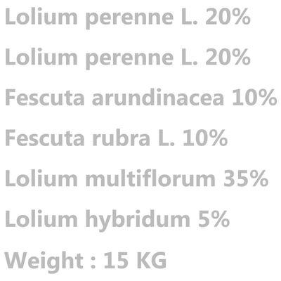 vidaXL Vejos sėklos, atsparios sausrai ir karščiui, 15kg