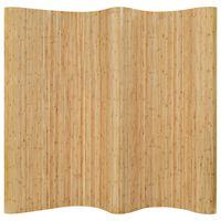 vidaXL Kambario pertvara, natūralios spalvos, 250x165cm, bambukas