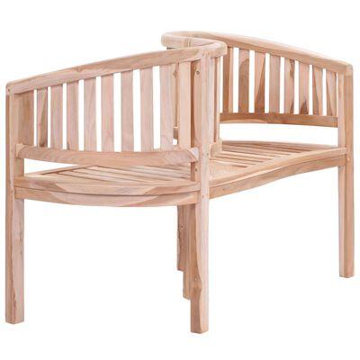vidaXL Sodo suoliukas, 120 cm, tikmedžio medienos masyvas