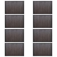 vidaXL Vonios kilimėliai, 8vnt., tamsiai rudi, 40x50cm, bambukas