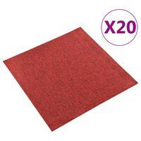 vidaXL Kiliminės plytelės, 20vnt., raudonos spalvos, 50x50cm, 5m²