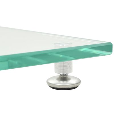 vidaXL Garsiak. stovai, 2vnt., grūd. stiklas, kolon. diz., sidabr. sp.