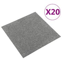 vidaXL Kiliminės plytelės, 20vnt., pilkos spalvos, 50x50cm, 5m²
