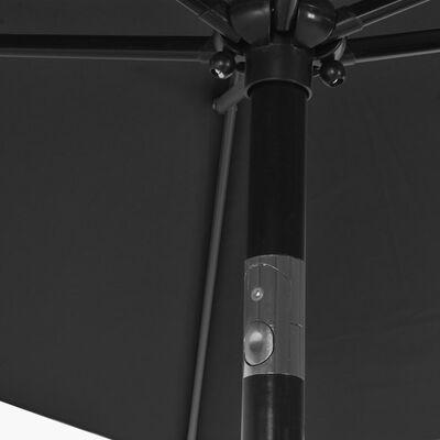 vidaXL Lauko skėtis su metaliniu stulpu, antracito sp., 300x200cm
