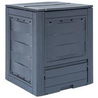 vidaXL Sodo komposto dėžė, pilka, 60x60x73cm, 260l
