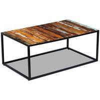 vidaXL Kavos staliukas, perdirbtos medienos masyvas, 100x60x40 cm