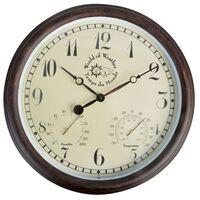 Esschert Design Stoties laikrodis su termo-higrometru, 30,5cm, TF008