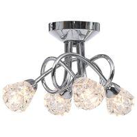 vidaXL Lubinis šviestuvas su stikliniais gaubtais, 4xG9 lemputėms