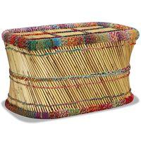 vidaXL Kavos staliukas, įvairių spalvų, bambukas