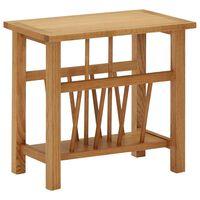 vidaXL Žurnalinis staliukas, 45x27x42cm, ąžuolo medienos masyvas