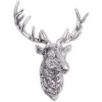 vidaXL Elnio galvos dekoracija, sieninė, aliuminis, sidabro sp.