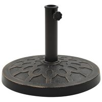 vidaXL Skėčio stovas, bronzinis, sint. derva, 13 kg, apvalus
