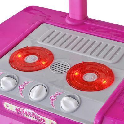 Vaikiška Žaislinė Virtuvė su Šviesos ir Garsų Efektais, Rožinė