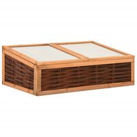 vidaXL Greenhouse 120x80x45 cm Solid Pinewood and Willow