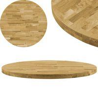 vidaXL Stalviršis, masyvi ąžuolo mediena, apvalus, 44mm, 500mm