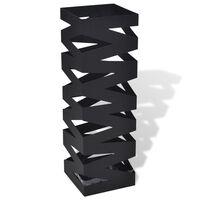Juodas Kvadratinis Skėčių, Vaikščiojimo Lazdų Stovas, Plienas, 48,5 cm