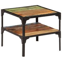 vidaXL Šoninis staliukas, 45x45x40cm, perdirbtos medienos masyvas