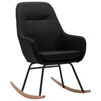 vidaXL Supama kėdė, juodos spalvos, audinys