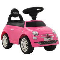 vidaXL Vaikiškas automobilis Fiat 500, rožinis