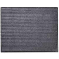 Pilkas PVC Durų Kilimėlis, 90 x 60 cm