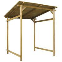 vidaXL Stoginė, impregnuota pušies mediena, 170x170X180cm