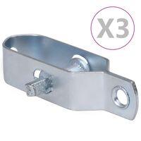 vidaXL Tvoros vielos įtempikliai, 3vnt., sidabrinis, plienas, 100mm