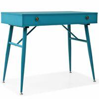vidaXL Rašomasis stalas su stalčiumi, 90x50x76,5cm, vintaž. žalia sp.