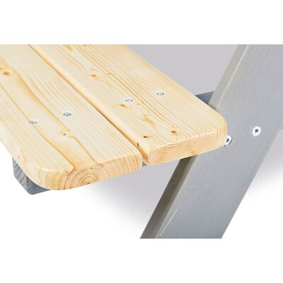 """Pinolino Kid's Picnic Table with Benches """"Nicki für 4"""" Wood Grey"""