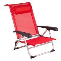 Bo-Camp Paplūdimio kėdė iš aliuminio, raudona, 1204793