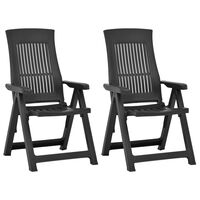 vidaXL Atlošiamos sodo kėdės, 2vnt., moka spalvos, plastikas