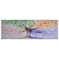 vidaXL Paveikslas ant drobės, įvairių spalvų, 120x40cm, lietas medis