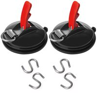 ProPlus 2 pcs Suction Cup Fasteners with Rings and 4 S-hooks (2x404094)
