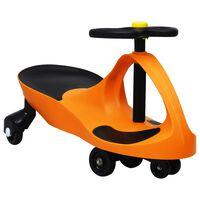 vidaXL Balansinė paspiriama mašinėlė su garso signalu, oranžinė