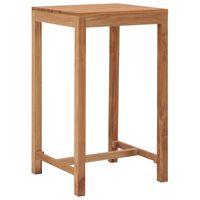 vidaXL Sodo baro stalas, 60x60x105cm, tikmedžio medienos masyvas