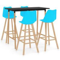 vidaXL Baro baldų komplektas, 5 dalių, mėlynas (287251+2x287262)
