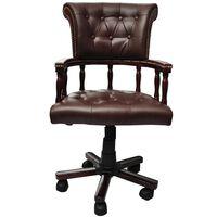 vidaXL Pasukama biuro kėdė, rudos spalvos