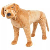 vidaXL Pastat. pliušinis žaislas šuo, labradoras, šviesiai rudas, XXL