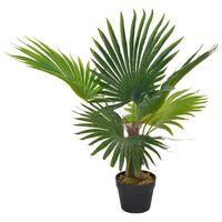 vidaXL Dirbtinė palmė su vazonu, 70 cm, žalias
